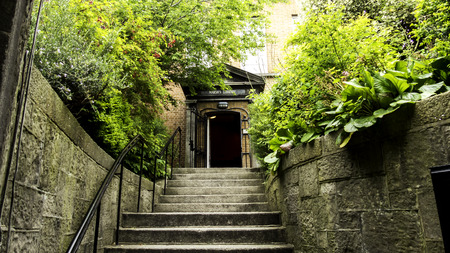 brig: Entry of an old library in Dublin