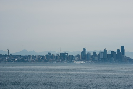 Morning view of Seattle skyline