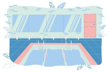 Swimming Pool with Track Field for Competition