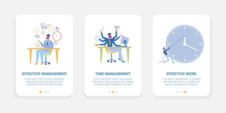 Effective Time Management at Work Clerk Has Tasks.