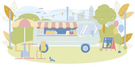 Street Food Festival Truck or Mobile Eatery Banner