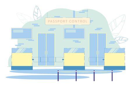 Passport Control Department with Customs Desks.