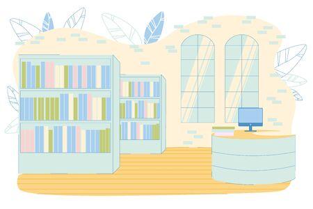 School, College, University Library Loft Interior