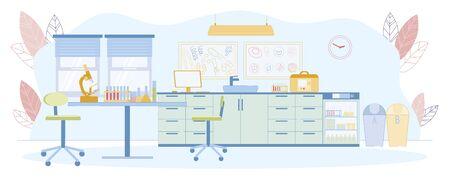 Medical Analys Reception Room or Exam Laboratory