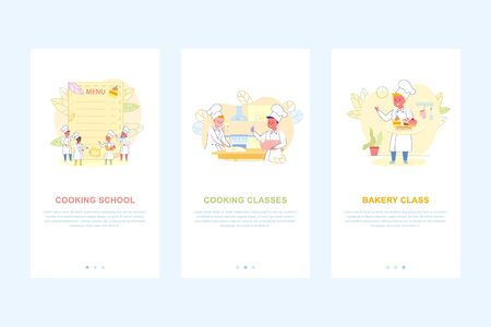 Kids Cooking School Bakery Classes Mobile Page Set