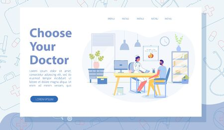 Choose Your Doctor Landing Page with Copy Space