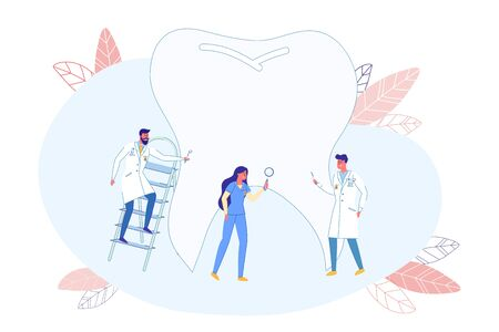 Dentists Discover Tooth Structure, Flat Banner.