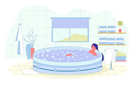 Hydromassage in Special Hot Bath with Bubbles.