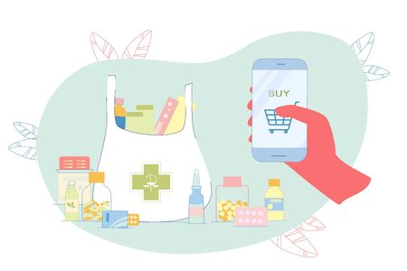 Collect Necessary Remedy in Online Shopping Cart. In Order not to Buy each Medicine Separately, Necessary Set Medicines is Collected Online and they Immediately Buy Together. Hand Presses.