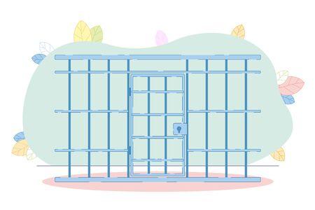 Prison Closed Metal Bar Inside Jail Block Prisoner