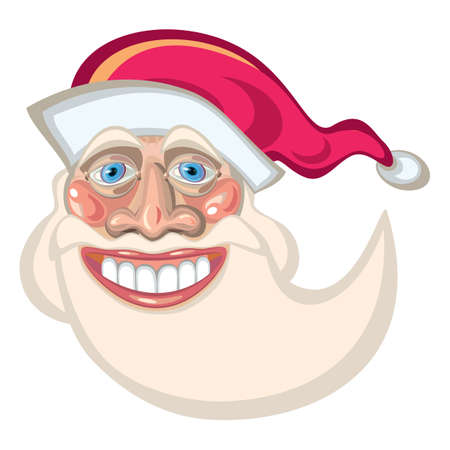 festiveness: Santa Claus cartoon mascot.  Illustration