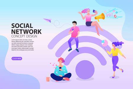 Human or people Figures Set. Creative Social Networking concept Vector Design.