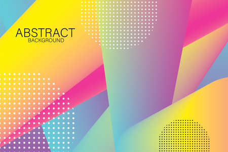 abstract geometric pattern background colorful gradien on design concept