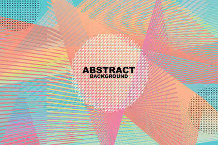 Vector line abstract background, Colorful halftone gradients. Future geometric patterns. Eps10. Иллюстрация