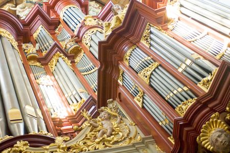vibrance: The pipes for the various tones of a huge church organ