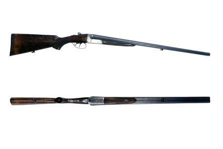 An old 16-gauge side by side shotgun, used to shoot woodcock