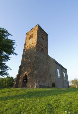 11th century: A very old church, built in the 11th century on a terp neer Spaarndam, the Netherlands