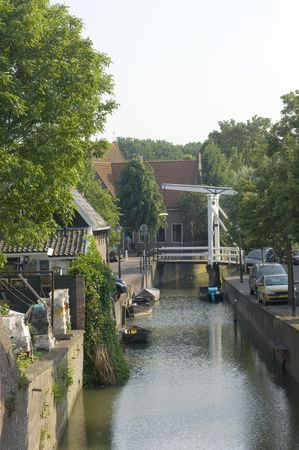 volendam: A canal in Volendam, an old fishermans village