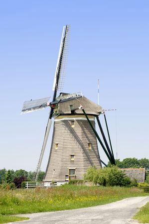 dutch typical: A typical Dutch windmill in Leidschendam, the Netherlands