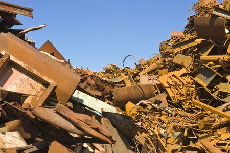 metallschrott: Menge der verschiedenen Arten von Metallschrott in einem Schrottplatz
