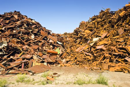 metal scrap: A metal scrap heap, to be recycled into new steel