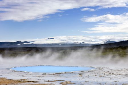 hot springs: The geothermal activity and hot springs in Hveravellir along the Kjolur highland route in Iceland