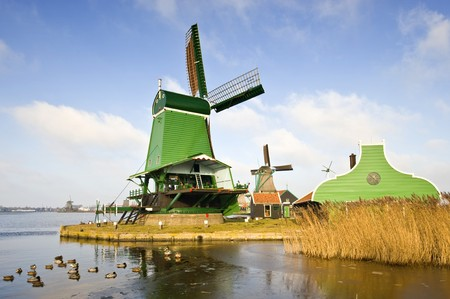 zaan: An old, typically Dutch saw mill at the tourist attraction