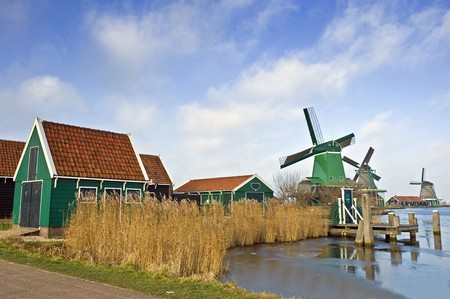 archetypal: An old, typically Dutch saw mill at the tourist attraction