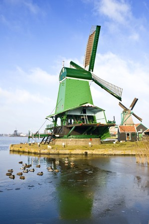 An old, typically Dutch saw mill at the tourist attraction  photo