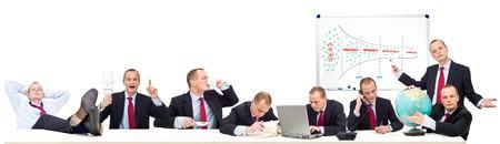 personality: Una representaci�n conceptual de ser trabajadores aut�nomos, la gesti�n de su propio tiempo, y que ilustra el proceso de redireccionamiento de la idea, original de pensamientos, ideas, a trav�s de la ardua labor en el desarrollo, comercializaci�n y ventas globales. De izquierda a derecha: 1: Thi