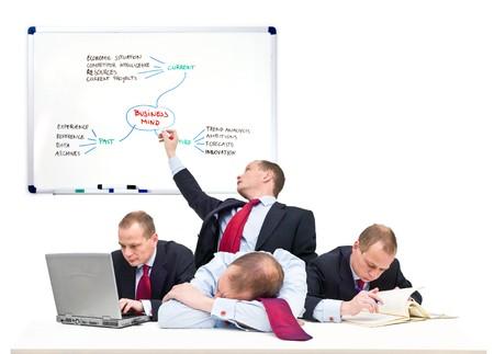 empleadas: Conceptual de la imagen de un hombre de negocios del equipo, representante de los trabajadores por cuenta propia