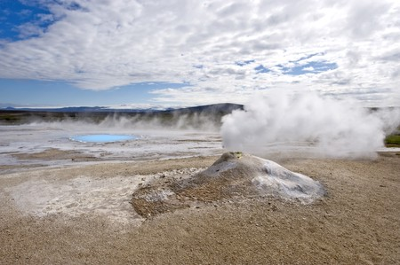 fumarole: A fumarole in Hveravellir, north west Iceland