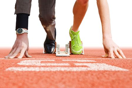 Conceptual image illustrating that being successful in business has strong parallels to being succesful in top sports photo