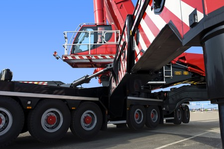 A huge - the world's biggest - mobile crane Stock Photo - 7067047