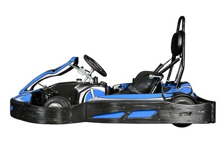 carting: Modern go-kart, isolated on white