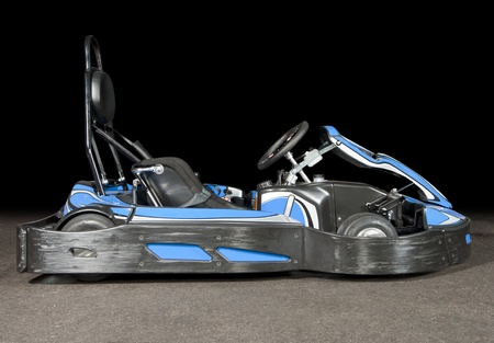 Side view of a racing go-kart photo