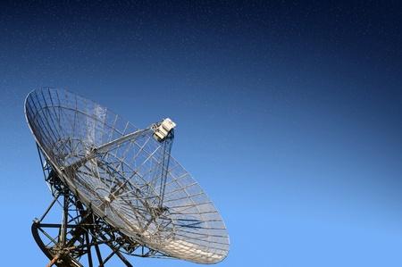 parabolic: A radio telescope observatory aimed at the stars, examining the universe Stock Photo