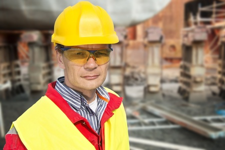 drydock: Portrait of a foreman in a dry dock Stock Photo