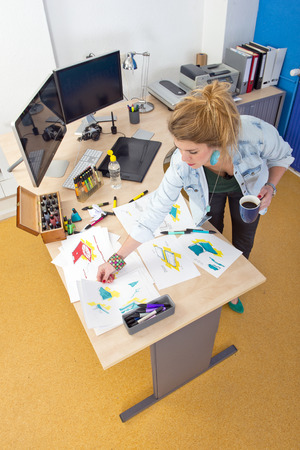 diverging: The creative process of a product designer at work in her office studio