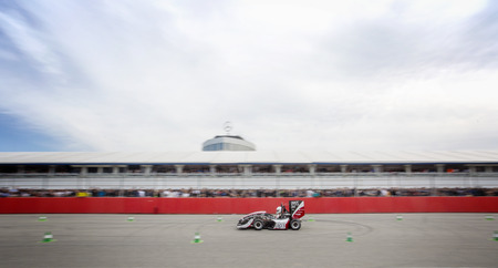 world championships: HOCKENHEIM, GERMANY - AUGUST 1, 2015: The officious world championships of the annual formula student design competion, Formula Student, for electronic and combustion race cars, is traditionally held on the Hockenheim circuit in Germany