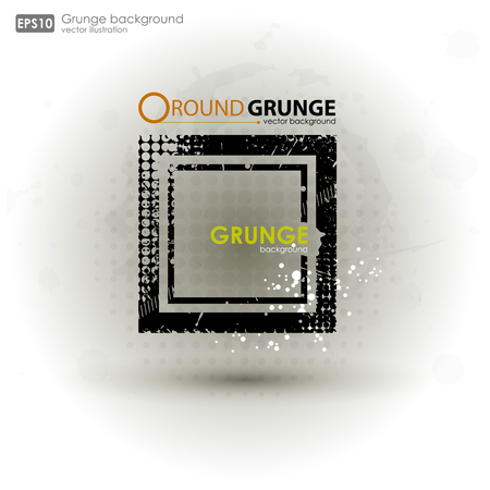 disheveled: Grunge textures. Abstract vector grunge background poster for party. Grunge print for t-shirt. Abstract dirt backgrounds texture. Grunge banner with an inky dribble strip with copy space. Illustration