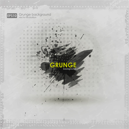 Grunge textures. Abstract vector grunge background poster for party. Grunge print for t-shirt. Abstract dirt backgrounds texture. Grunge banner with an inky dribble strip with copy space. Ilustração