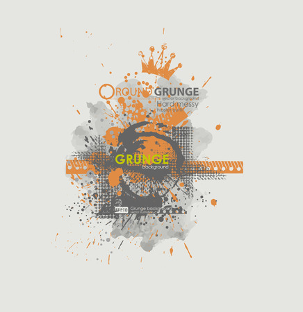 dribble: Grunge poster vector background. Dirty urban print for t-shirt. Abstract dirt backgrounds texture. Grunge banner with an inky dribble strip with copy space. Abstract background for party