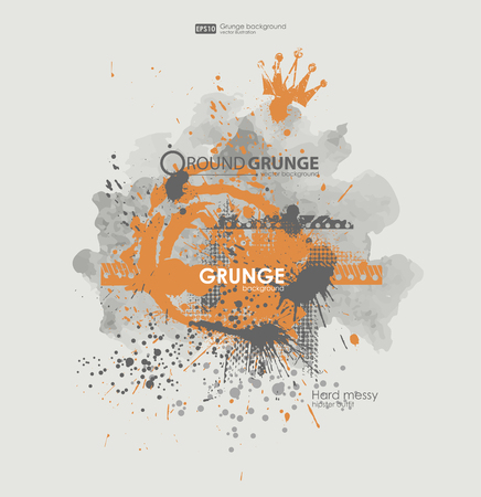 dirty t shirt: Grunge poster vector background. Dirty urban print for t-shirt. Abstract dirt backgrounds texture. Grunge banner with an inky dribble strip with copy space. Abstract background for party