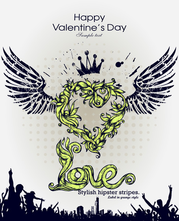 dribble: Grunge banner with an inky dribble strip with copy space. Abstract background for party. Valentain day