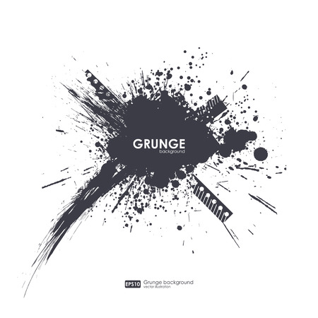 Splatter Background. Black Ink Splats. Spray Paint Splatters. Vector Paint Splats. Blots and Splashes. Grunge Ink Stains. Distress Vector Stains for Grunge Effects. Ink Splats for Design Use.