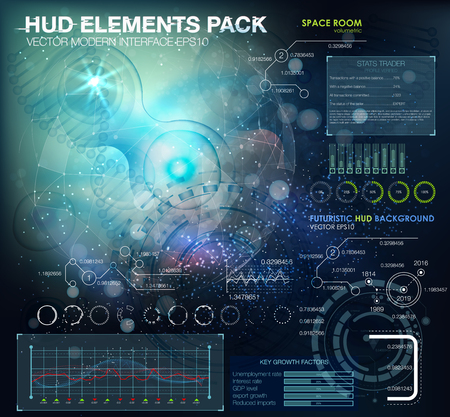 virus cell: Science background with cells and DNA HUD.Life and biology, medicine scientific, bacteria, molecular research DNA. futuristic user interface. Futuristic HUD background. Illustration