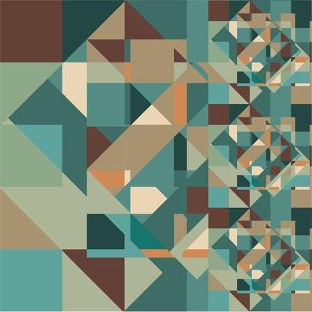 Abstract Retro Geometric Background. Vector Illustration Vettoriali