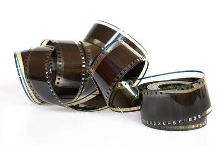 Isolierter Filmstreifen vor weißem Hintergrund