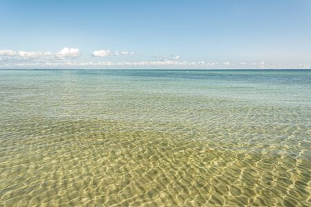 Scenic view of the calm, clear and shallow water at the Baltic Sea